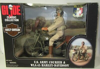 GI JOE US ARMY Courier & WLA 45 HARLEY DAVIDSON MOTORCYCLE DISPATCH RIDER  In Box