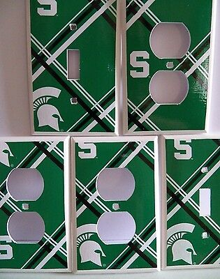 MICHIGAN STATE SPARTANS - Light Switch Cover - Switchplate Electrical Outlet NEW