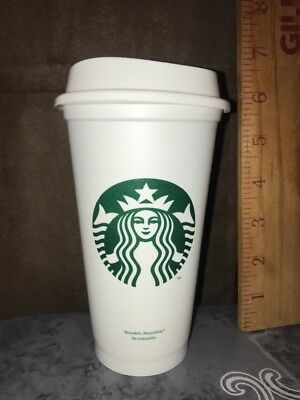 Starbucks Tumbler Reusable Travel To Go Plastic Cup 16Oz-Grande Coffee/Tea