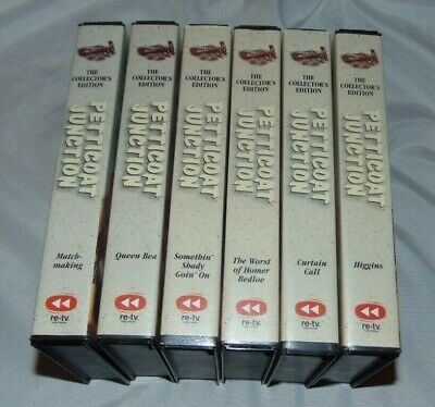 Lot of 6 Television Series PETTICOAT JUNCTION VHS Tapes