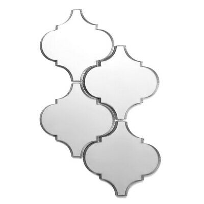 Abolos Reflections 5.625 in. x 5.625 in. Mirror Arabesque Waterjet Mosaic Glossy