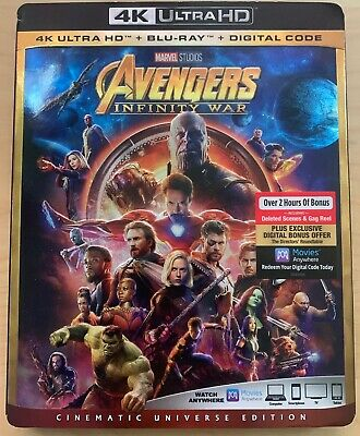 Avengers Infinity War 4K+Bluray (2018) New NO DIGITAL *READ*