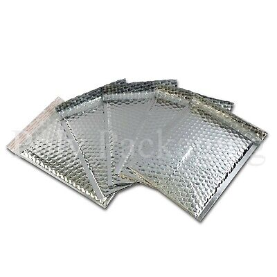 "SILVER METALLIC Padded Envelopes 180x250mm(DVD SIZE)7x10""Foil Shiny Large Letter"