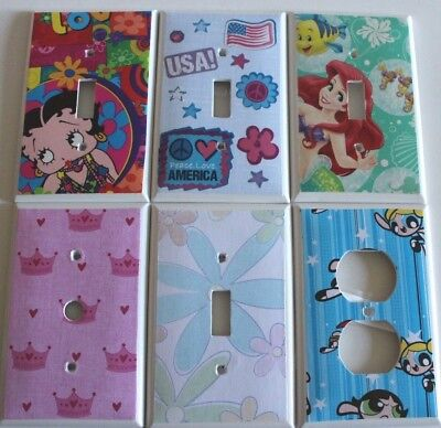 GIRLS ROOM ~ Switchplate Covers - Choose Your Plate LIGHT SWITCH COVER Hand Made