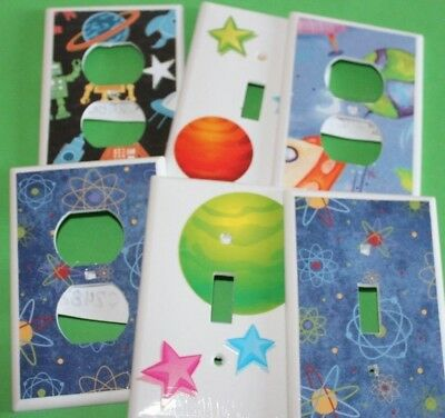 SPACE THEME - Switchplate Covers - Light Switch Electrical Outlet