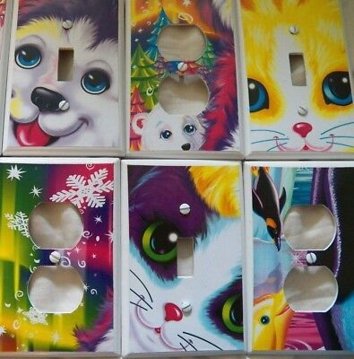 Switchplate Cover LISA FRANK - Decorated Light Switch Electrical Outlet Various