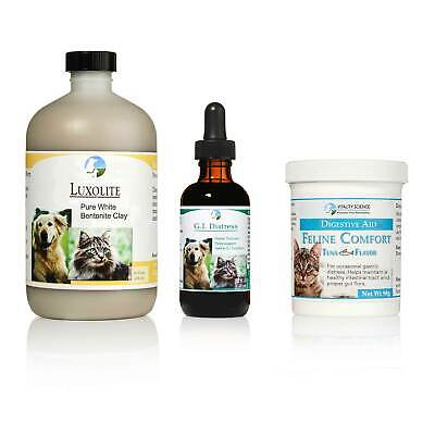 Vitality Science TRV for Cats | 3 Part Program for Vomiting | Additive Free