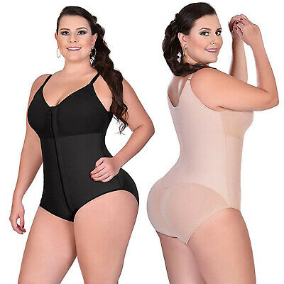 Womens Tummy Control Body Shaper Waist Shapewear Zip Bodysuit Corset Plus Size