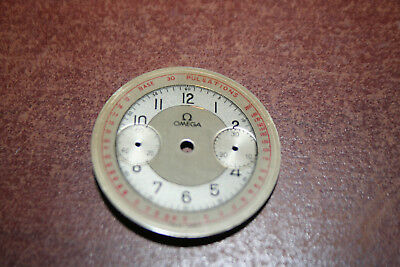 Vintage Omega Pulsations Telemeter Dial, Red and Black lettering. 33.3 Movement