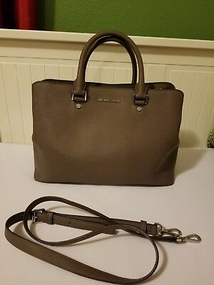 5e2f5a05b6a21 NEW MICHAEL KORS Savannah Large Cinder Saffiano Leather Satchel ...