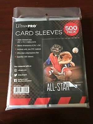 (500) Ultra Pro Soft Trading Card Sleeves Acid Free No PVC Standard Size Clear