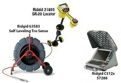Ridgid 325' SL Tru Sense Color Reel (63583) SeekTech SR-20 (21893) CS12x (57288)