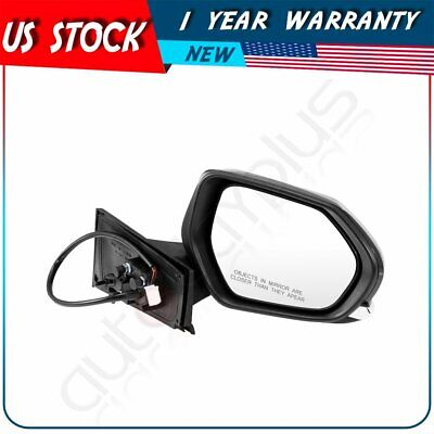 Fits 2016-2018 Toyota Prius Black Power+Heated Manual Fold Right Side Mirror