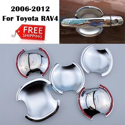 Cup For TOYOTA Highlander 2009-12 Chrome Trim Door Handle Bowl Cover Molding