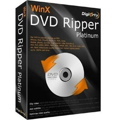 WinX DVD Ripper Platinum 8.5 Full Version - Windows - Instant Download
