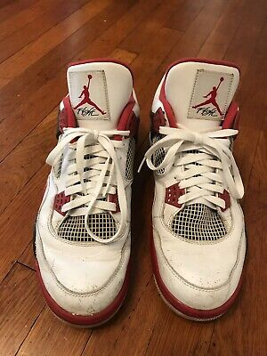 0bb788aac259c NIKE AIR JORDAN 4 Retro OG Fire Red White 2012 Size 8.5 308497-110