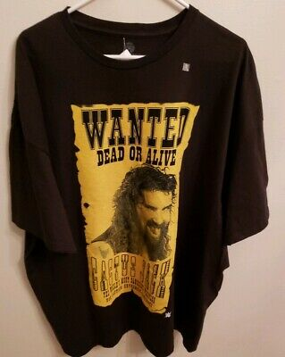 8075dd830 Wwe Cactus Jack Wanted Dead Or Alive T-Shirt Mens Wrestling Tee Size 3Xl