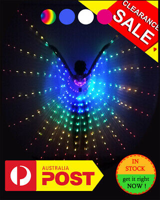 LED Wings 300 Lamp Beads 360°Opened Performance Stage Dance wear AU stock