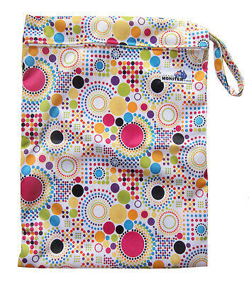 Spots Large Zip Dry/Wet Bag - for Cloth Nappies Waterproof Reusable Economical