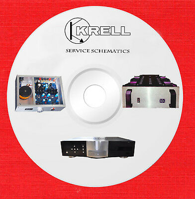 Krell Audio Repair Service schematics and owners manuals on 1 cd in pdf format