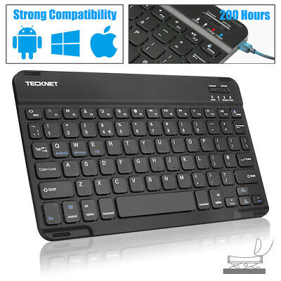 Backlit Illuminated Wireless Bluetooth Keyboard Chargeable IOS Android Windows