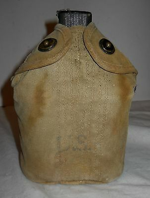Canteen & Cover, Wwii, Original U.s. Surplus, Dated, Some Tlc, Collectable!