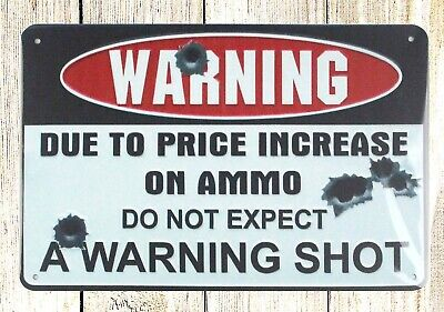 US SELLER- do not expect a warning shot metal sign garage wall home tavern