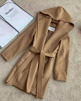 3a04bd67eb3e1 MAX MARA RIALTO Hooded Camel Hair Coat US 6 IT 40 NWT Retail  2800 ...