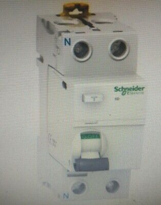Schneider RESIDUAL CURRENT CIRCUIT BREAKER 2-Poles 30mA Type A- 40A, 63A Or 100A