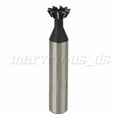 12mm x 60 Degree HSS Straight Shank Dovetail Cutter End Mill Bit Double-edged