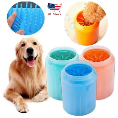 US Dog Paw Cleaner Pet Cleaning Brush Cup Portable Dog Foot Cleaner Feet Washers