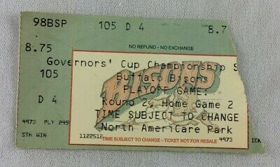 MiLB 1998 Buffalo Bisons Championship Home Playoff Game Round 2; Game 2 Ticket