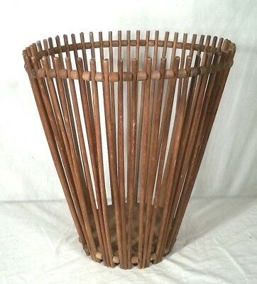 Antique Early American Primitive Wooden Stick Basket