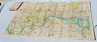 1920s Bartholomew Central Map of London - Large  vintage