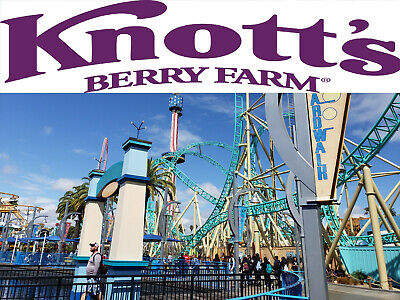Knotts Berry Farm (4 E-Tickets for $110.00) Boysenberry Festival / Fast Shipping