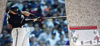 Ryan Braun autographed MLB 11x14 Milwaukee Brewers At Bat photo Legends COA HOLO