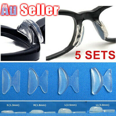 10pcs Eyeglasses Nose Pads Sunglasses Clear Spectacles Glasses Anti-Slip Silicon
