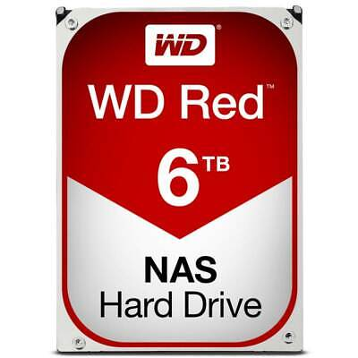 "Western Digital WD Red 6TB 3.5"" SATA Internal NAS Hard Drive HDD 5400RPM 256MB"