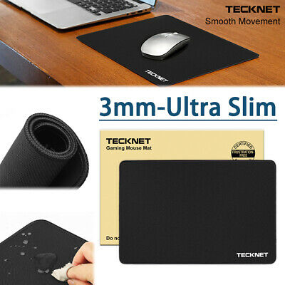 Anti-Slip Gaming Mouse Mat Pad - Black Rubber - 4mm Thick - PC Laptop Computer