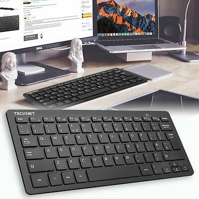 Ultra Thin UK QWERTY 2.4GHz Wireless KeyBoard For PC Laptop Macbook Smart TV Box