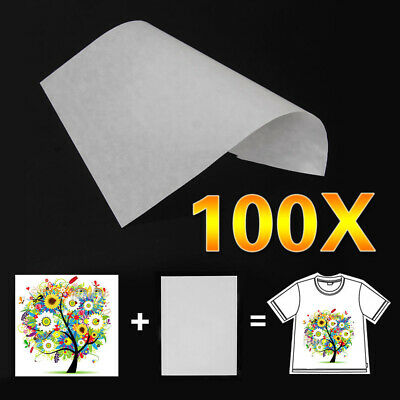 100pc A4 Sublimation Iron On Heat Transfer Paper for inkjet Printer Mug T-shirt