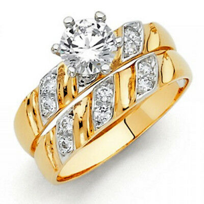 Other Fine Rings Confident Femmes En Argent Sterling 925 Zircone Rond Fiançailles 7mm Bague Cheapest Price From Our Site