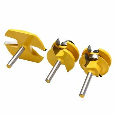 3pcs Ogee Rail and Stile Router Bit Set with Raised Panel Bit 1/4'' Shank