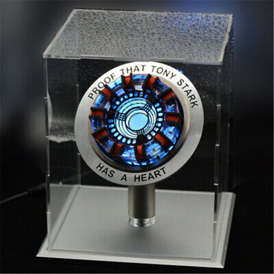 Iron Man LED ARC Reactor MK1 1:1 Tony Stark Heart Light USB DIY Model Set Prop