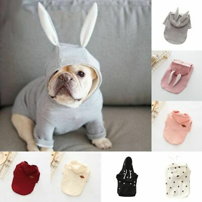 Pet Warm Dog Clothes Puppy Outfit Sweater Winter Soft Cat Hoodie Coat Jacket UK