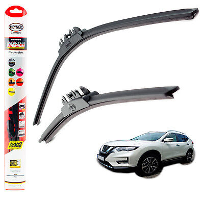 "Fits Nissan X-Trail 2014-on HEYNER SUPER FLAT PREMIUM wiper blades 26""16"" FRONT"