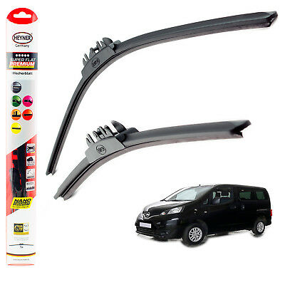 "Fits Nissan NV200 2010-on HEYNER SUPER FLAT PREMIUM wiper blades 22""16"" FRONT"