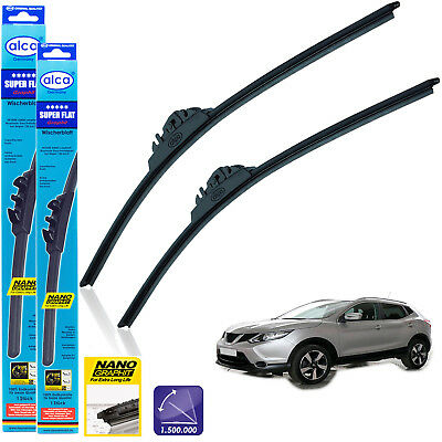 "Fits Nissan Qashqai 2015-on front wiper blades alca SUPER FLAT 26"" 17"""