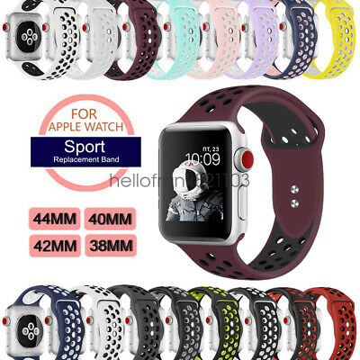 Replacement Bracelets Silicone Sports Band pour Apple Watch iWatch Strap 44/42mm