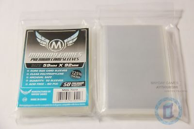 125% thicker MDG-7029 Euro card sleeves for 59x92 Board Game cards protectors